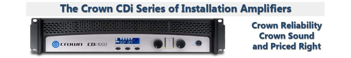 Audio Supply Crown CDI Amplifiers